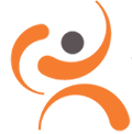 Orange and gray logo of ContentGuard, a Xerox spinoff