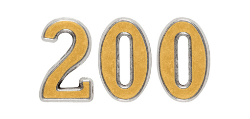 200 in gold numbers