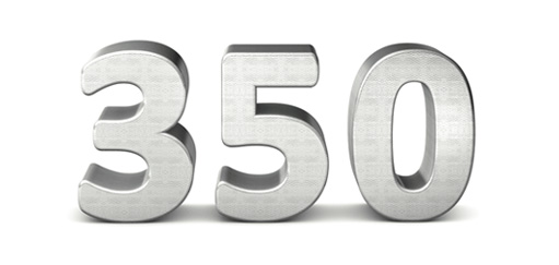 350 in silver numbers