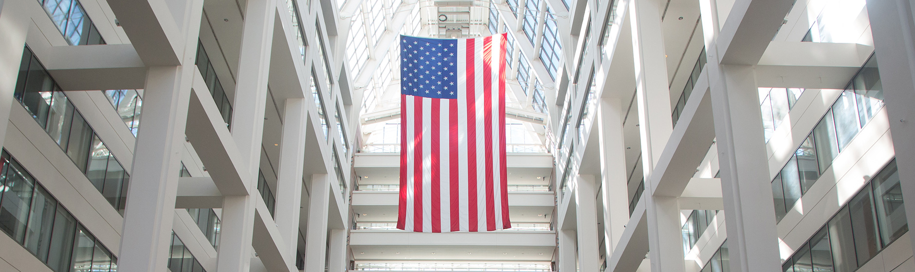 American Flag in Patent and Trademark Office Building
