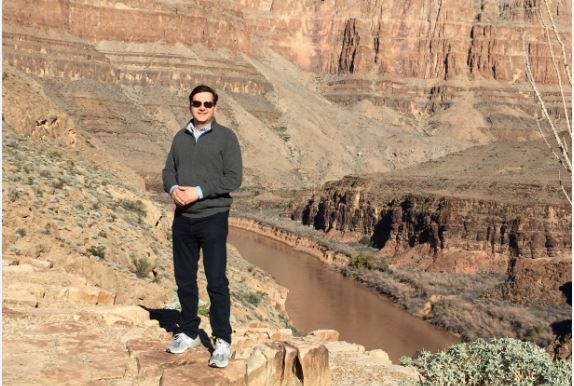 J.C. is pictured hiking in the Grand Canyon.