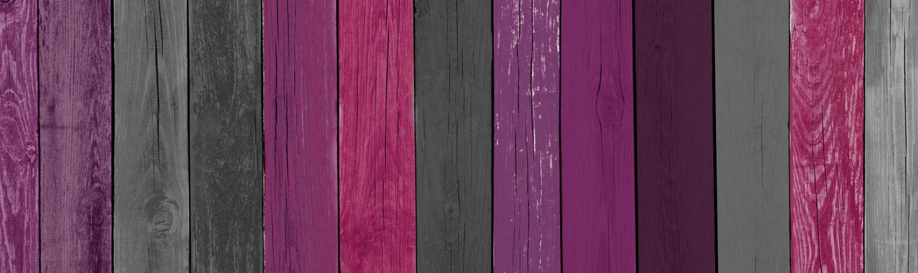 Purple and Gray Wood Panels