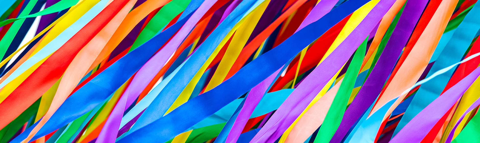 Our Culture Page Banner Image of Ribbons